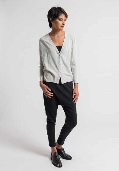 Album Di Famiglia Cotton Raglan Sleeve Cardigan in Rice