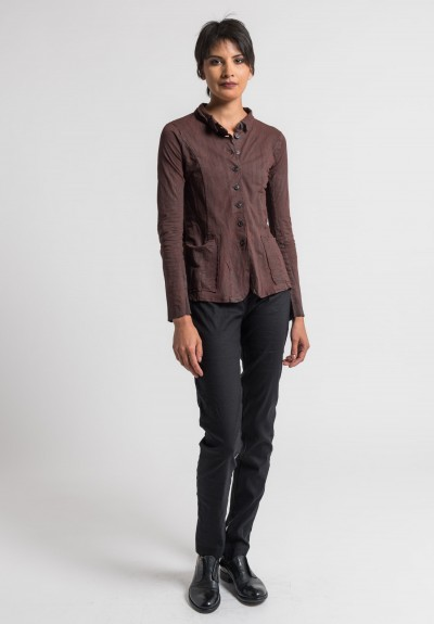 Rundholz Cotton Over-Dyed Jacket in Granate