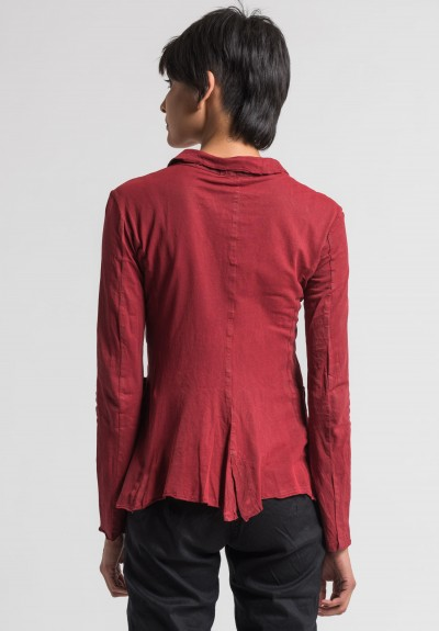 Rundholz Cotton Over-Dyed Jacket in Tomato