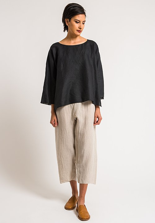 Shi Linen Cropped Pants in Natural