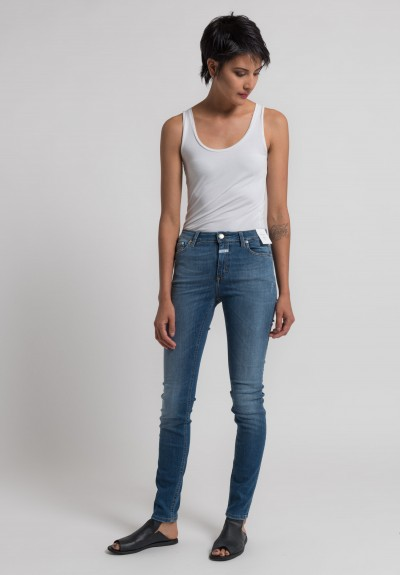 Closed Lizzy Mid Rise Skinny Jeans in Summer Mid Blue