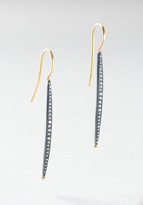 Lika Behar 24K, Oxidized Silver, & Diamond Earrings