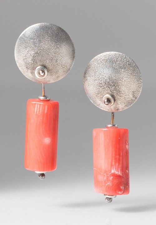 Holly Masterson Coral Tubular Earrings
