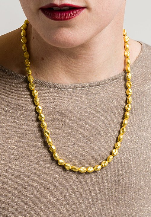 Greig Porter 18K Gold Organic Bead Necklace