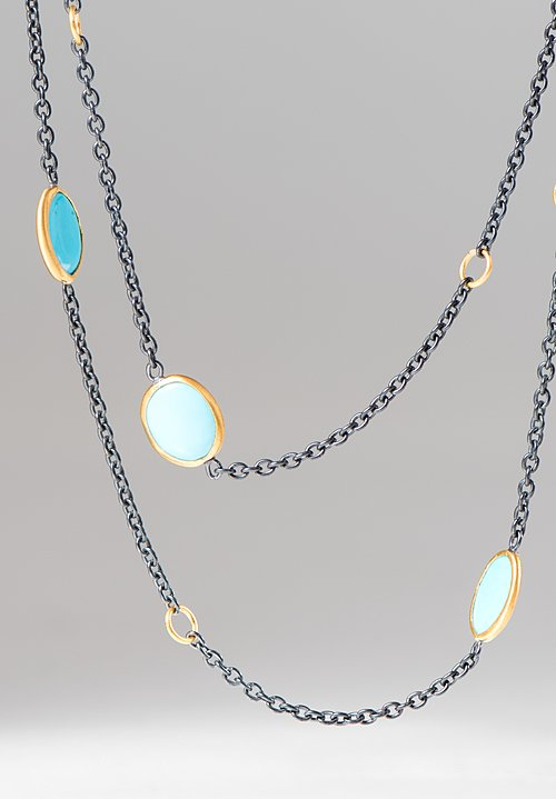 Lika Behar Sleeping Beauty Turquoise Katya Necklace