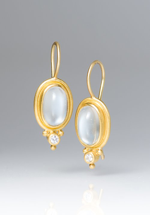 Denise Betesh Diamond Moonstone Earrings