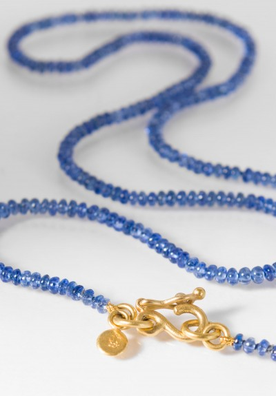 Denise Betesh 22k, Blue Sapphire Bead Necklace
