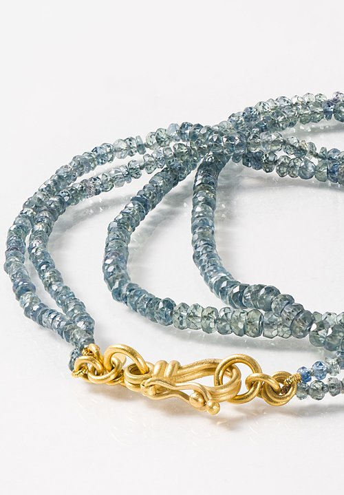 Denise Betesh 22K, Sapphire Double Strand Necklace