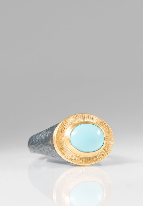 Lika Behar 24K, Sleeping Beauty Turquoise Pompeii Ring