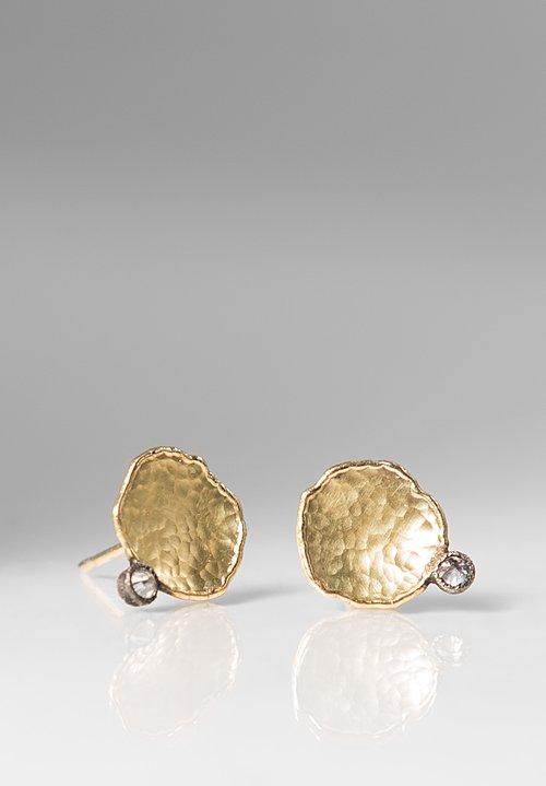 Tap By Todd Pownell Bezel Diamond Post Earrings Santa Fe