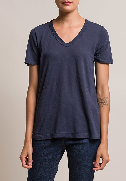 Wilt Easy V-Neck Short Sleeve Tee in Indigo
