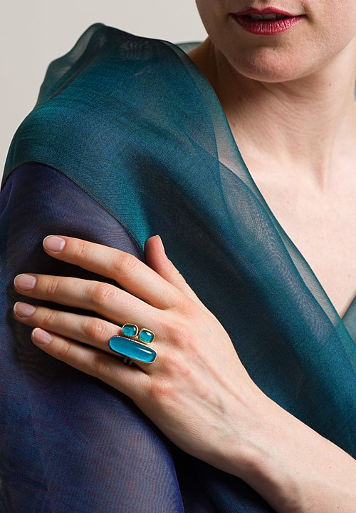 Maria Frantzi 18K, Silver, Chrysocolla Doublet Ring
