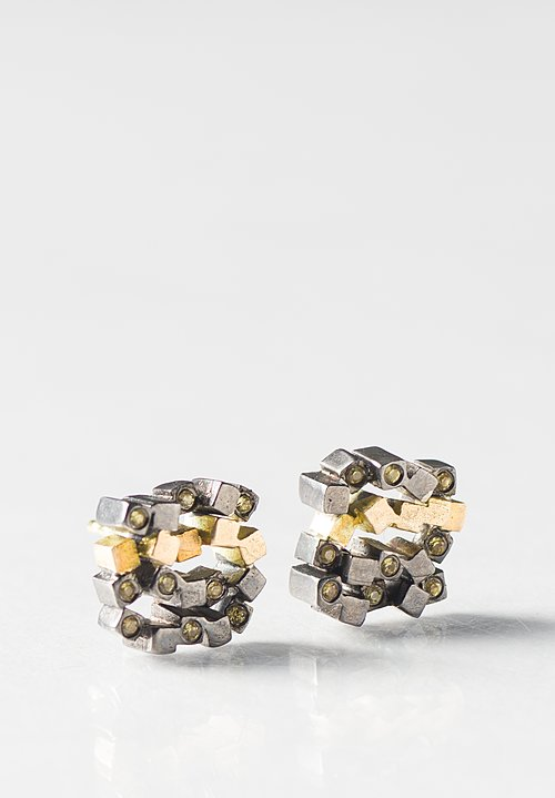 Maria Frantzi 18K, Silver, Yellow Sapphire Earrings