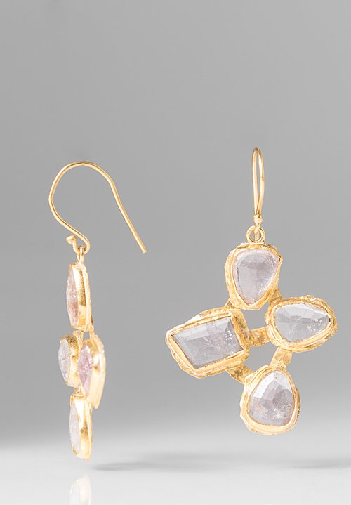 Margery Hirschey 22K and Pink Tourmaline Earrings