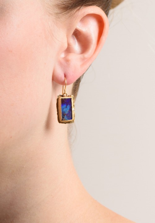 Margery Hirschey 22K & Boulder Opal Drop Earrings