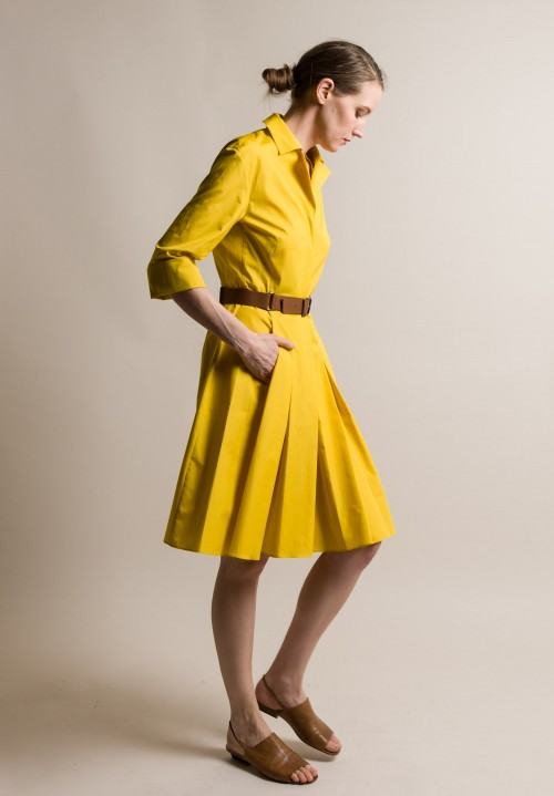 Akris Tailored Shirt Dress in Kodak