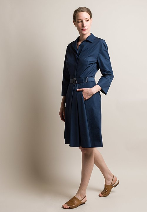 Akris Tailored Shirt Dress in Denim