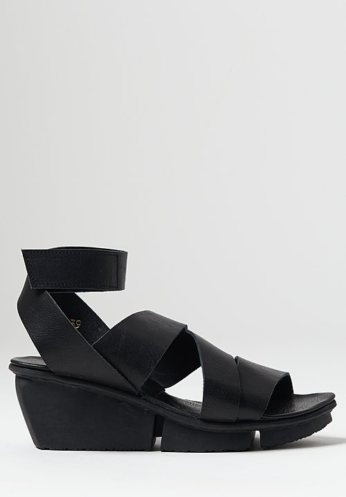 Trippen Film Sandal in Black