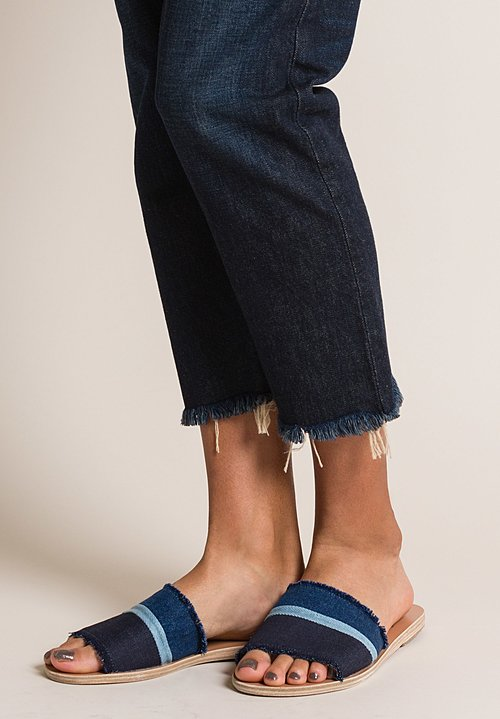 Ancient Greek Sandals Taygete Sandal in Light/Med/Dark Denim