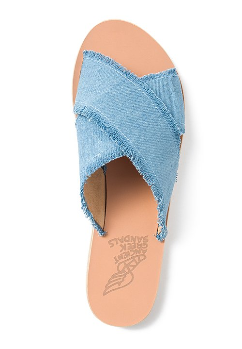 Ancient Greek Sandals Thais Sandal in Light Denim