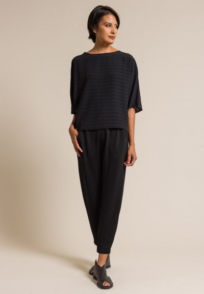 Zero + Maria Cornejo Gabi Trousers in Black
