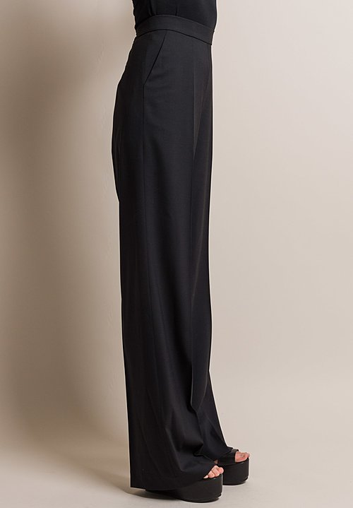 Etro Wool High-Rise Palazzo Pant in Black