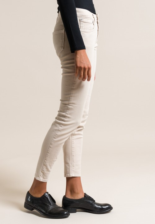 Closed Baker Cropped Narrow Jeans in Soft Beige