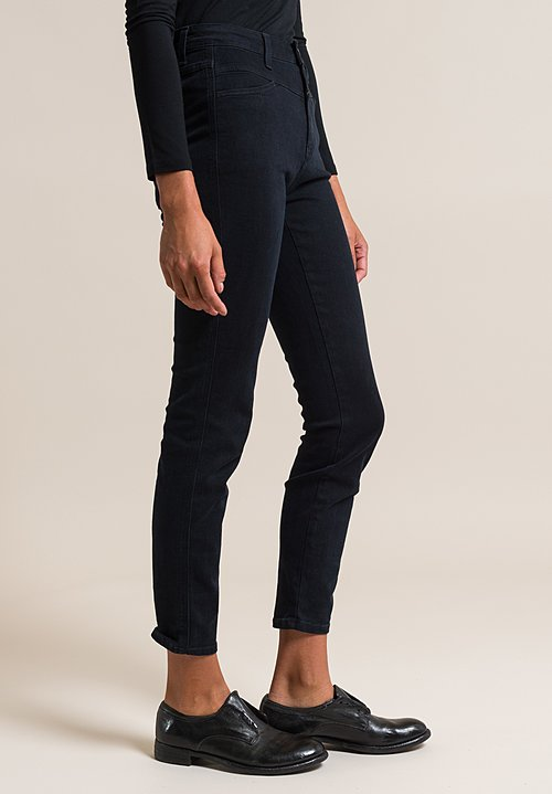 Closed Skinny Pusher High-Rise Jeans in Blue Black