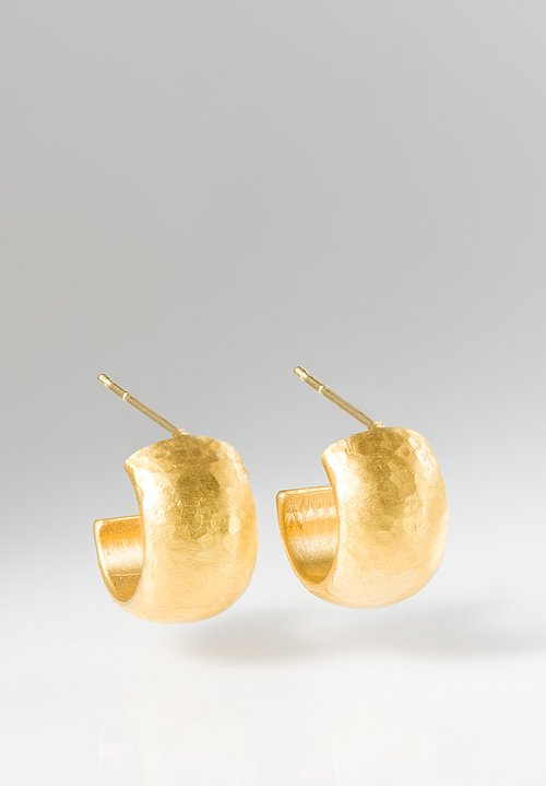 Lika Behar Solid 24K Gold Thick Hoop Earrings