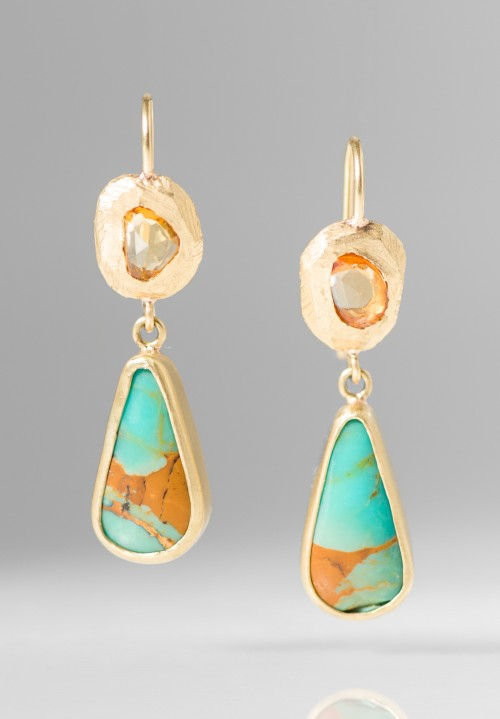 Page Sargisson 18K, Turquoise, Sapphire Earrings