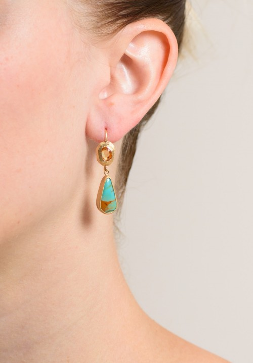 Page Sargisson 18K, Turquoise, Sapphire Earring