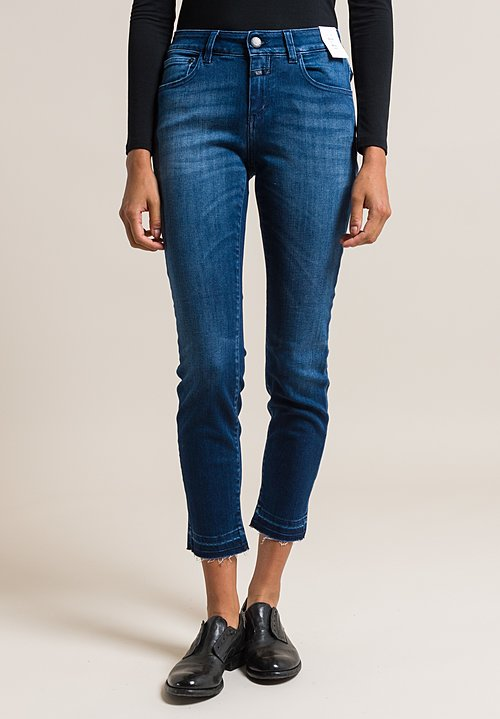 Closed Baker Cropped Narrow Jeans in Strong Blue