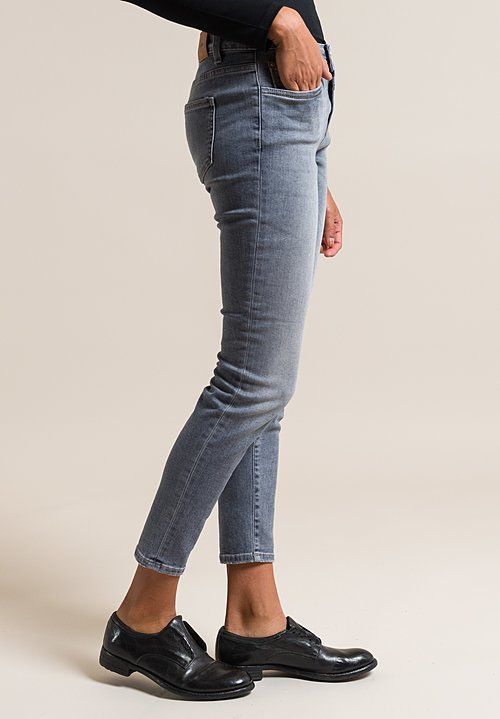 Closed Baker Cropped Narrow Jeans in Stone Grey