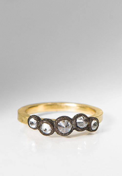 Tap by Todd Pownell 18K, Darkened 14K, 5 Inverted Diamond Ring