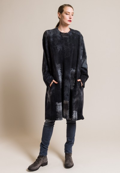 Avant Toi Oversized Felted Fabrics Knit Tunic in Husky