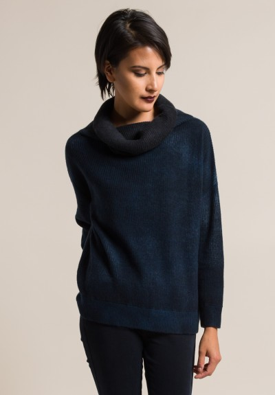 Avant Toi Cashmere Ribbed Turtleneck Sweater in Velvet