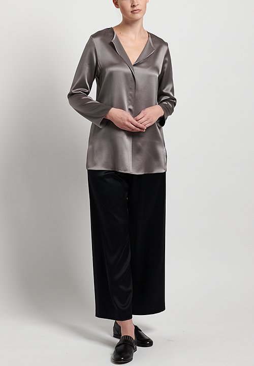 Peter Cohen Silk Blouse in Pewter