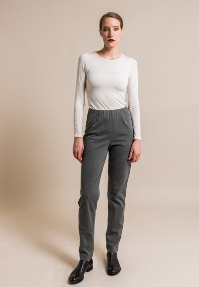 Oska Stretch Cotton Ropa Pants in Granite