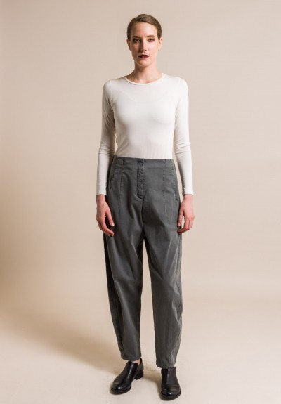 Oska Stretch Cotton Vaja Pants in Granite