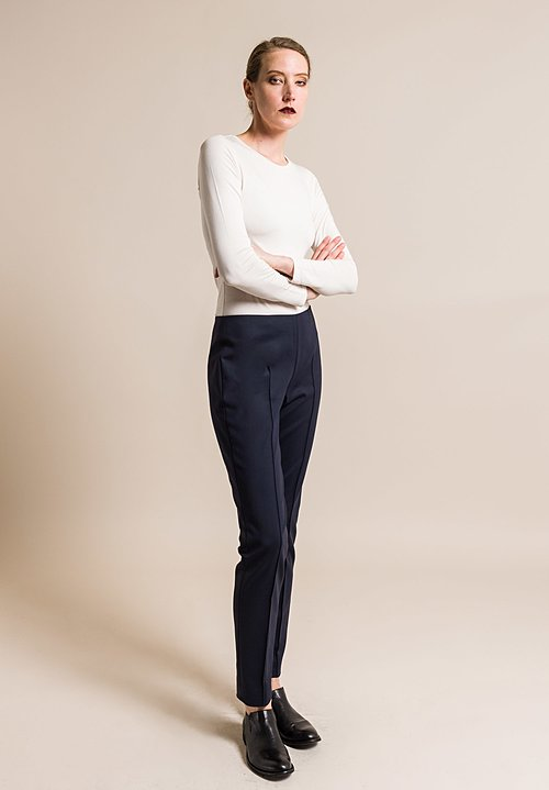 Akris Melissa Techno Stretch Pant in Navy