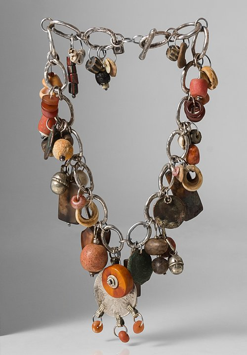 Holly Masterson One-of-a-Kind Ancient Coins, Carnelian, Coral, Amber Talisman Necklace
