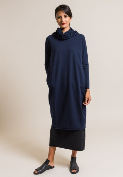 Labo.Art Extra Large Cowl Neck Dress in Atlantic