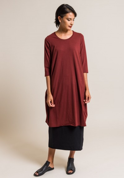 Labo.Art Abito Ortica Jersey Dress in Cordovan