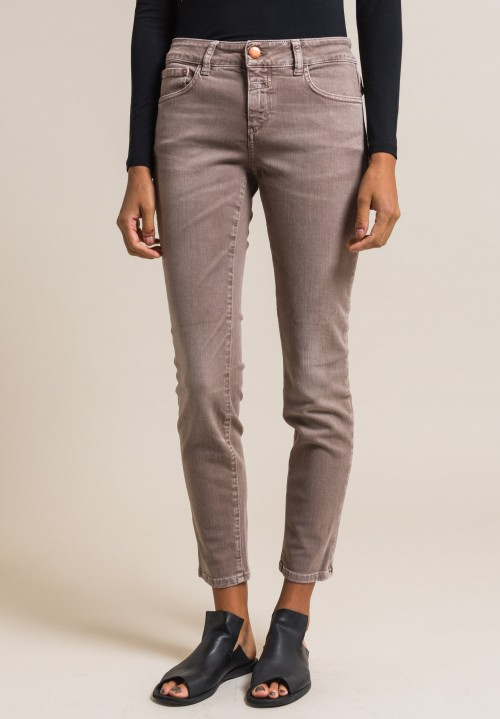 Closed Baker Cropped Narrow Jeans in Taupe