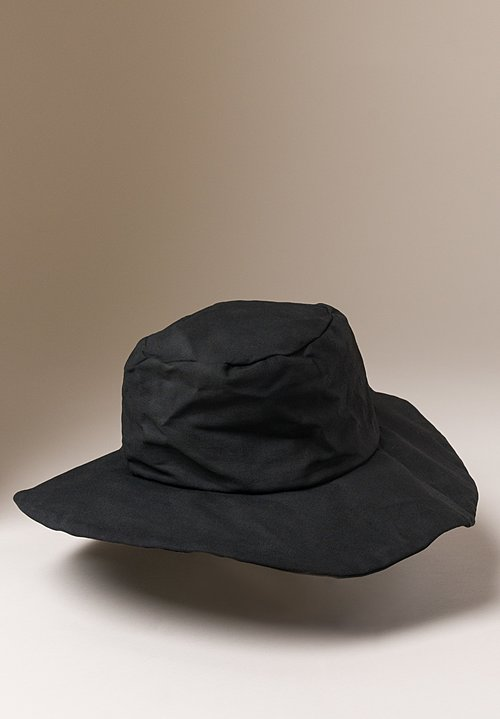 Reinhard Plank Coated Cotton Tom Hat in Black