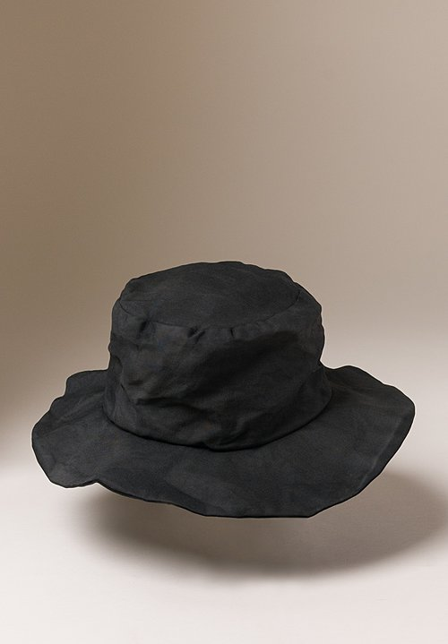 Reinhard Plank Coated Cotton Safari Hat in Black
