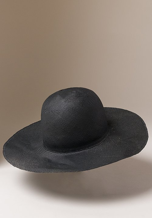 Reinhard Plank Straw Donna Hat in Black
