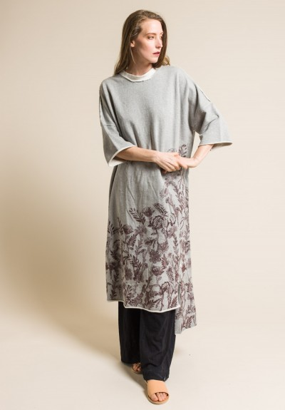 Gilda Midani Cotton Fleece Super Dress Bordeaux Botanic