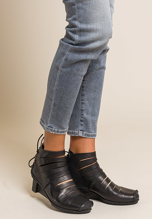 Trippen Fence Ankle Boot in Black