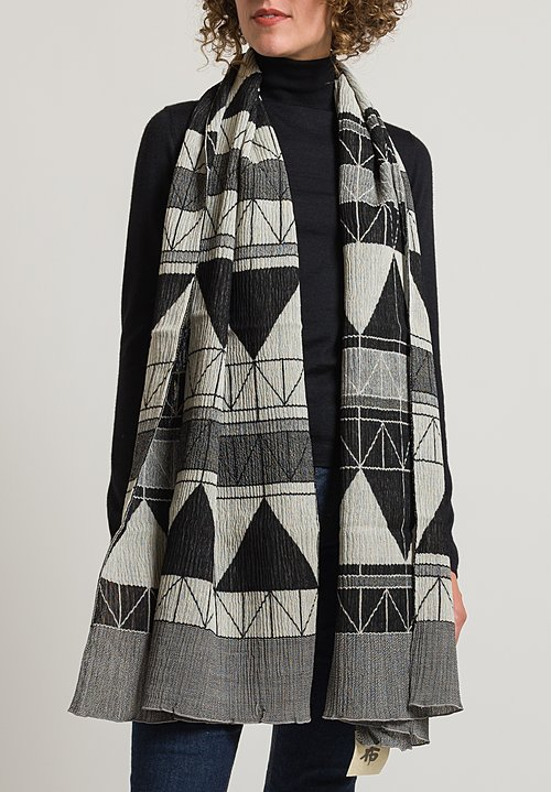 Nuno Frank Lloyd Wright Inspired Scarf in Black Mix